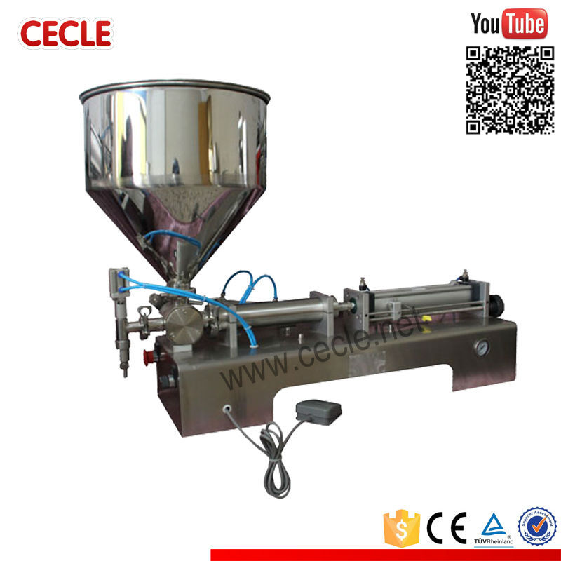 Economic glass etching paste filling machine