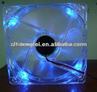 Transparent120*120*25mm Dc Colorful LED Computer Case Fan