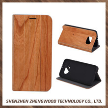 Custom logo printing blank wood flip phone case mobile phone case for Samsung galaxy s6/s6 edge