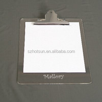 Plexiglass Writing clipboard A4 China supplier