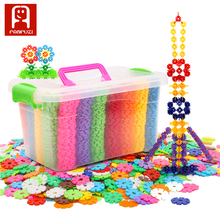 Children toys baby creativity toy splicing plastic snowflakes building blocks