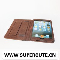 2015 china supplier Lovely book style leather case for ipad mini