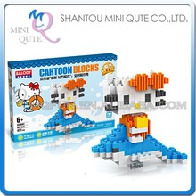 Mini Qute BALODY Kawaii Anime Hello Kitty Dolphin cartoon plastic Series connect building blocks girls educational toy NO.68061