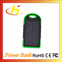 New Model Super Thin Portable Solar Power Bank 5000mAh slim Portable Mobile Power Bank