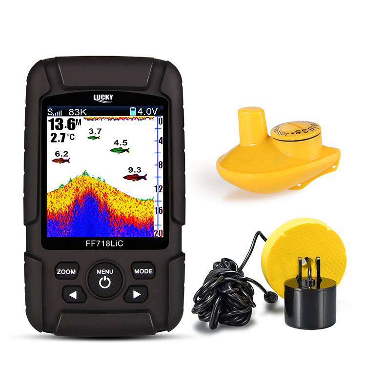 LUCKY 2-in-1 Wired & Wireless Portable Waterproof Fish Finder Sensor For Outdoor