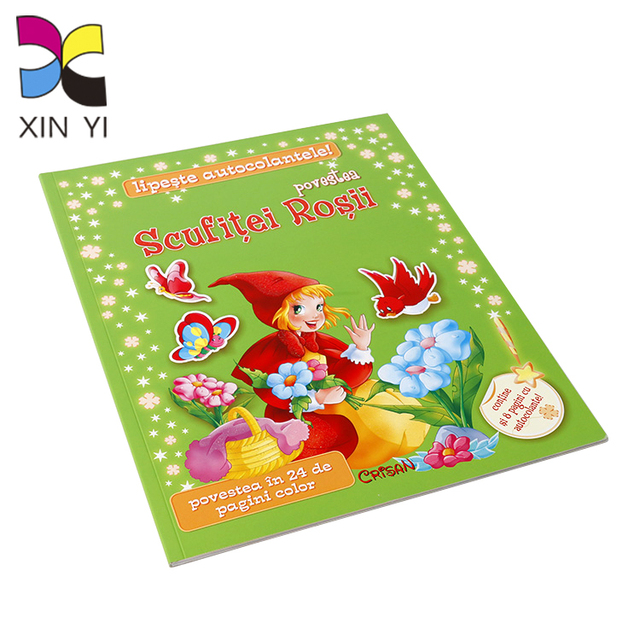 Custom coloring paperback perfect binding child book printing
