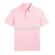 China supplier mens plain solid color polo shirt collar neck designs tshirt