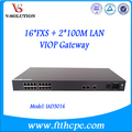 16 Port ATA VoIP Gateway + 2FE Data Port Support SIP Protocol 16POTS Voice over IP with Surge Protection