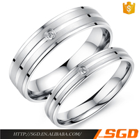 Fashion wholesale zircon jewelry surgical steel engagement rings