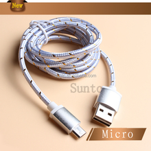 Braided cable braided micro usb cable aluminum Free Sample