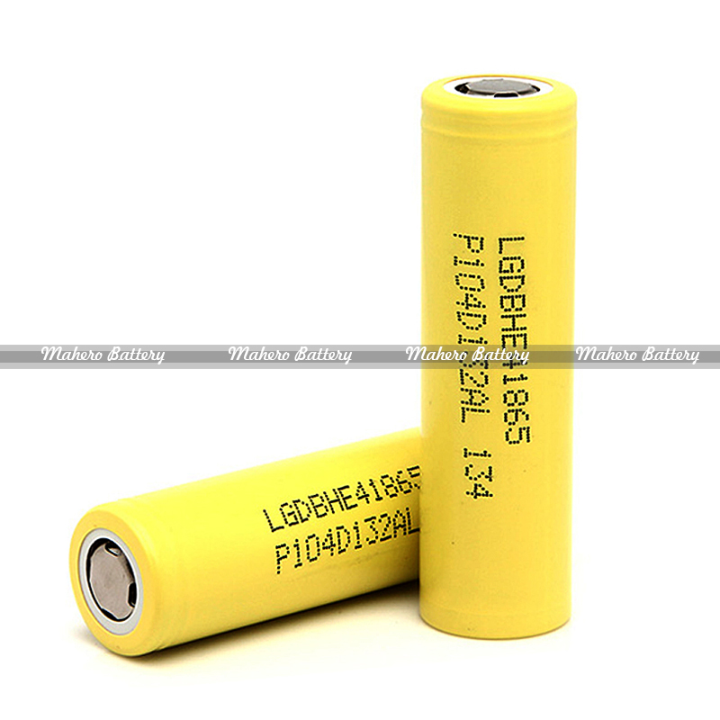 Original LG 18650 Battery 18650 2500mAh 20A e cigarette Battery LG HE4 3.7V Rechargeable Li-ion Battery Cell