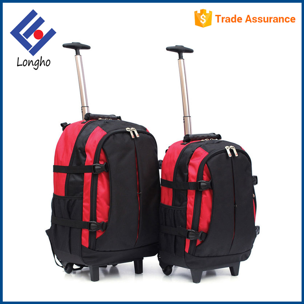 Reinforced buckle straps wheeled laptop bag trolley single handle system college trolley computer bag