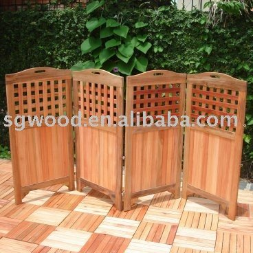 Solid Teak Outdoor Room Divider