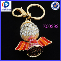 Hot Sale Fancy Flying Apsaras Wing Chicken Richly Colorful Metal keychains