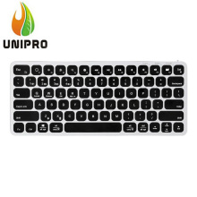 VORKE K2 Aluminum Wireless Bluetooth Ultra-thin Keyboard with Touchpad for iOS Android Windows MacOS - Black+Silver