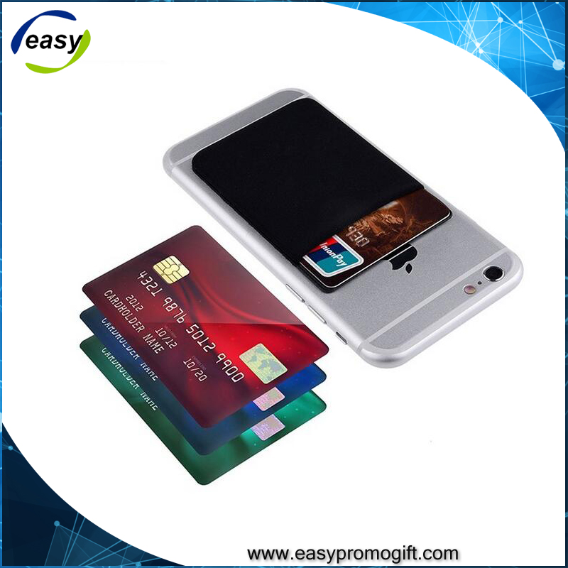 Popular custom design elastic lylon smart wallet for Celephone