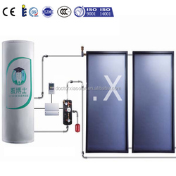 China pressurized split flat plate solar hot water heater with flat panels