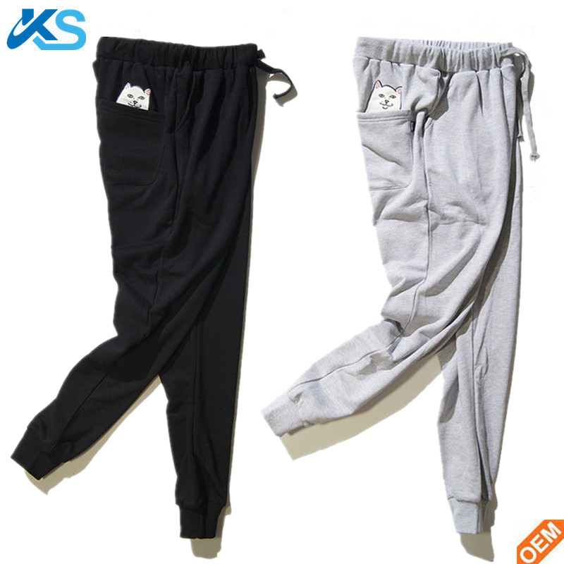 High Quality Men's Casual Cotton Blend Jogger Dance Sportwear Blank Baggy Pants