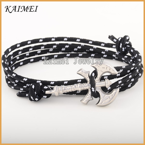 Top Sale Product In Alibaba Stainless Steel Black And White Bracelet Men Bulk Custom Jewelry