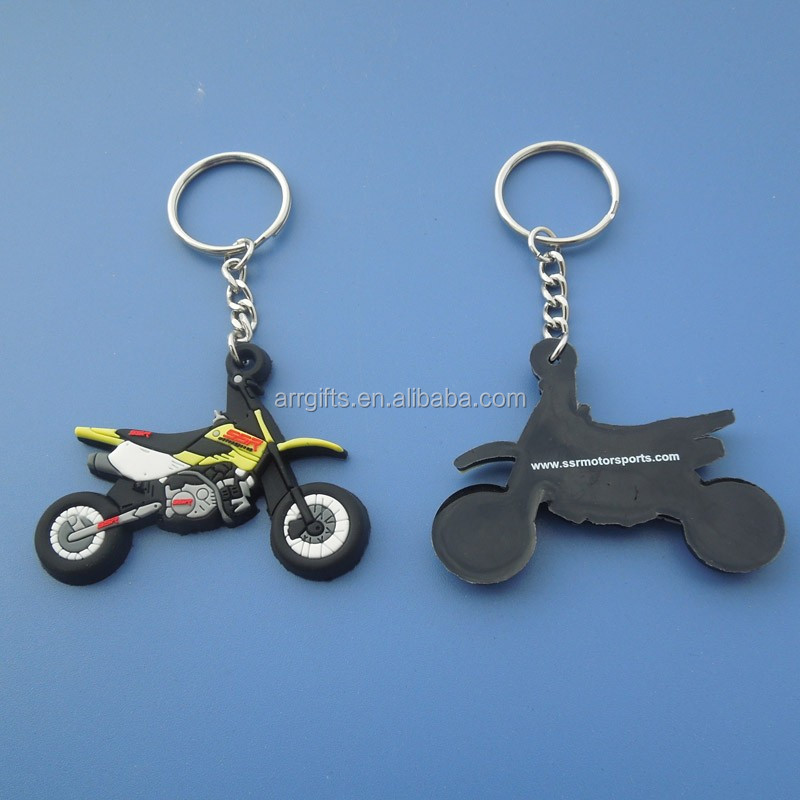 3D motor pvc keychain/ motorcycle rubber pvc keyring