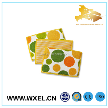high absorbency square dish washing cloth