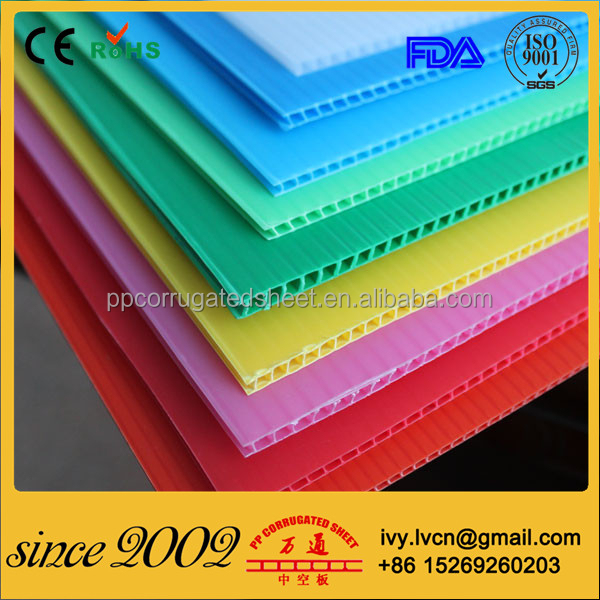 Factory Price 2mm 3mm 4mm 5mm 8mm Corrugated Plastic Sheeting