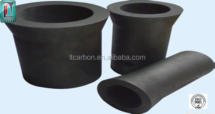 small factory direct sale high purity graphite crucible