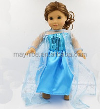 2015 wholesale blue lovely american girl doll dress clothes