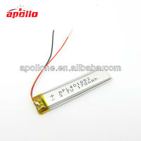 New model read pen 3.7V lipo 401052 170mAh from Apollo