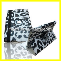 For Apple iPad Mini 1/2 360 roataing cow pattern Leather Case ,auto sleep wake function for ipad mini 1/2