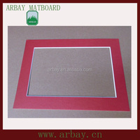 uncut paper matboard for picture frame/double layer mount board