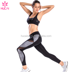 high quality women custom fitness apparel yoga wear leggings and sports bra set wholesale