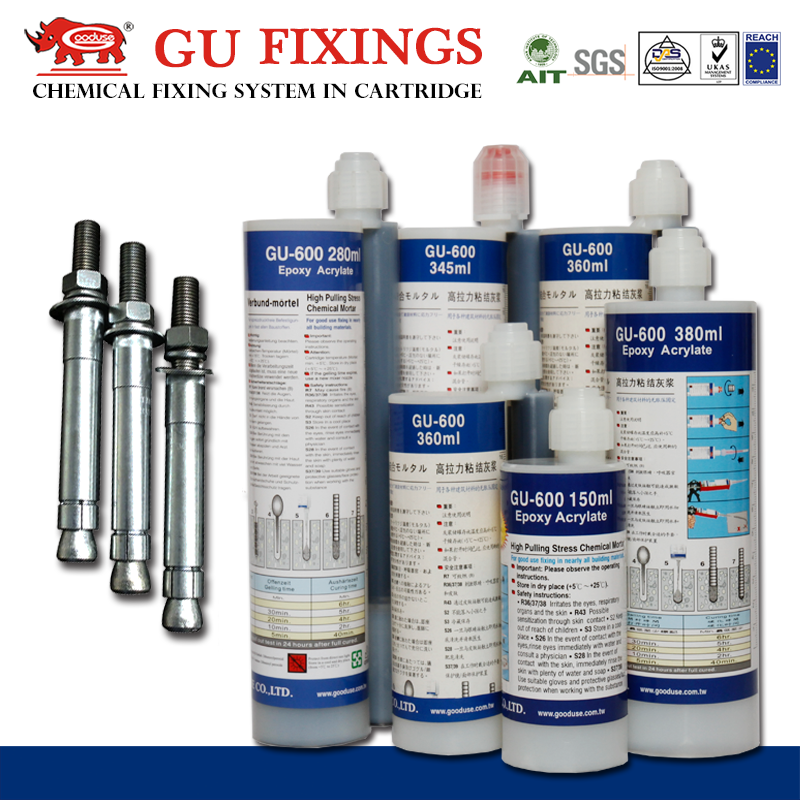 Great product embedding glue planting rebar adhesive steel bar anchorage adheisve