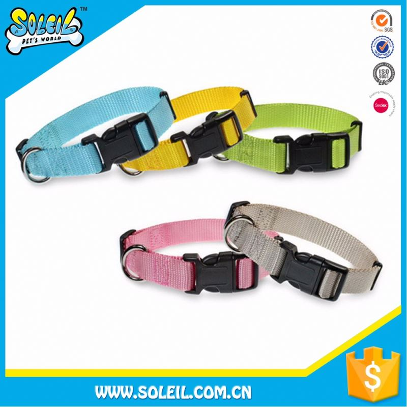 Durable High Fastness Adjustable Nylon Wholesale Hunting Dog Collar