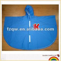 kids pvc reflective raincoat