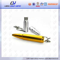 Metal bullet shaped usb flash drive