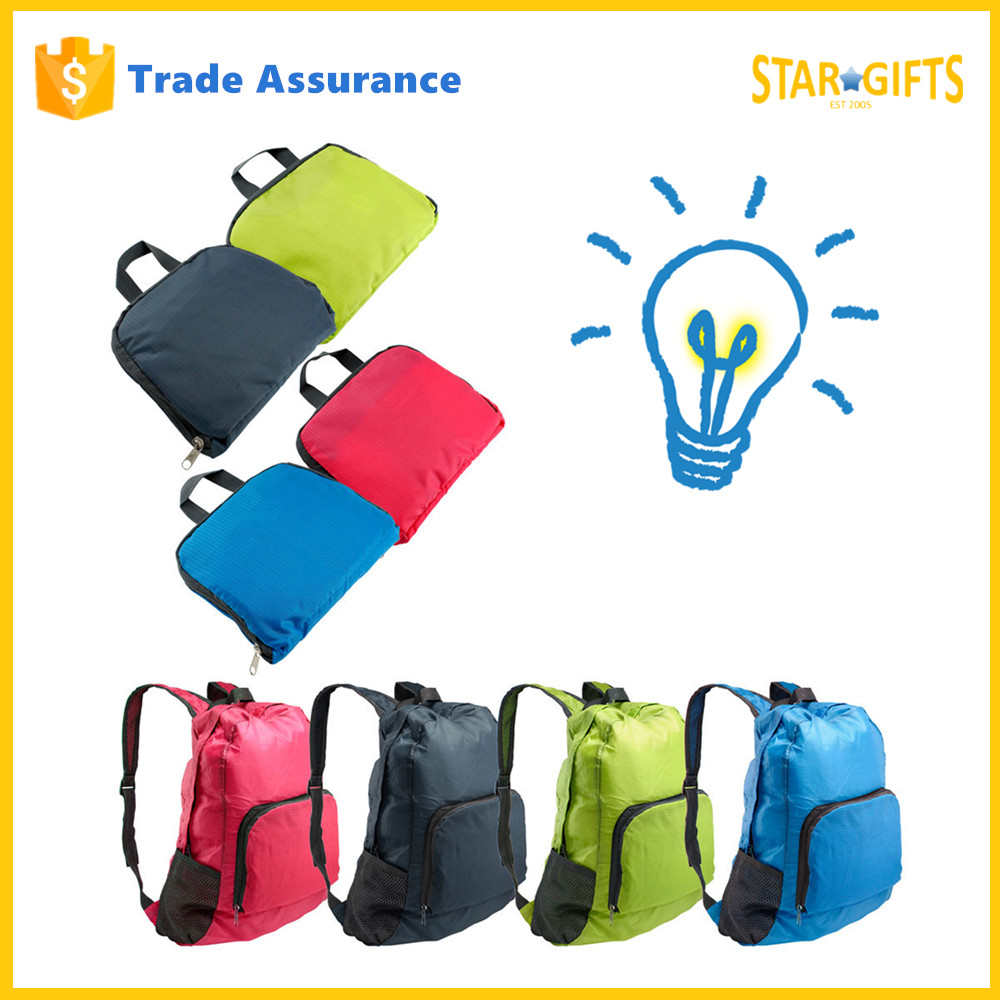 Wholesale Waterproof Foldable Ripstop Nylon Teenager Active School Bags With Built-in Pouch