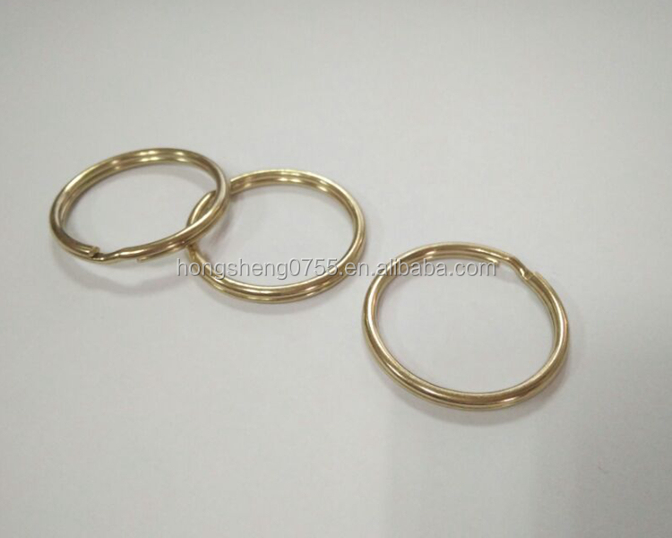 Factory Cheap metal strong keyrings parts for promotional keychain