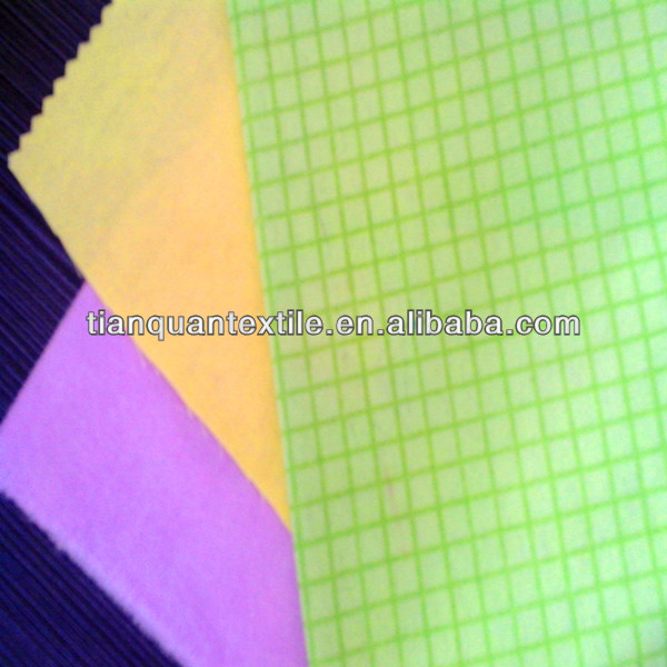 100% cotton yellow purple dyed woven flannel cleaning cloths duster cloths