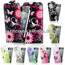 Flower Leather Flip Case Cover for Apple iPhone 5 5G 5S