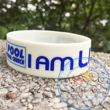Custom silicone wristband with ink filled for a festival