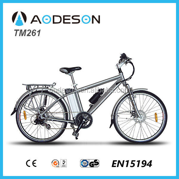 electric mountain bike/bicycle, ebike TM261 with fender and rear carrier made in China