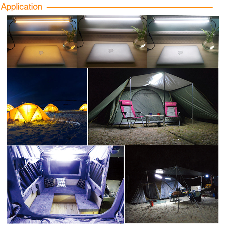 Eco-friendly Popular Camping Equipment C5530BM-2 Dual color Camping Dimmer LED Light Kit