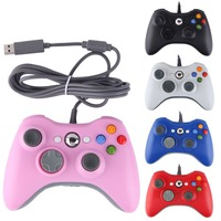 Alibaba Supplier made in China 2 x Black Wired USB Game Pad Controller For Microsoft Xbox 360 & PC New