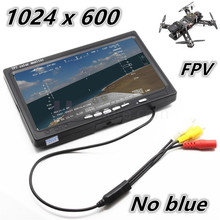 "3U-80044 For Rc Car Multicopter Dji Phantom Race Drone No Blue 7"" Lcd Color 1024*600 Hd Fpv Monitor Video Screen 7 Inch Monitor"