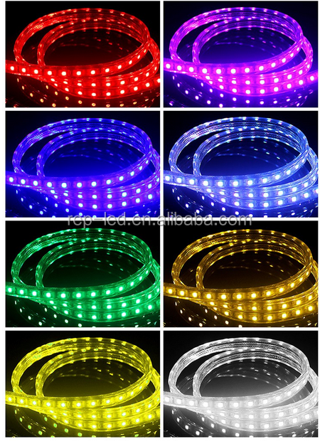 Cost effective no need power supply 110v 220v 100m waterproof rgb led lighting strip ip68