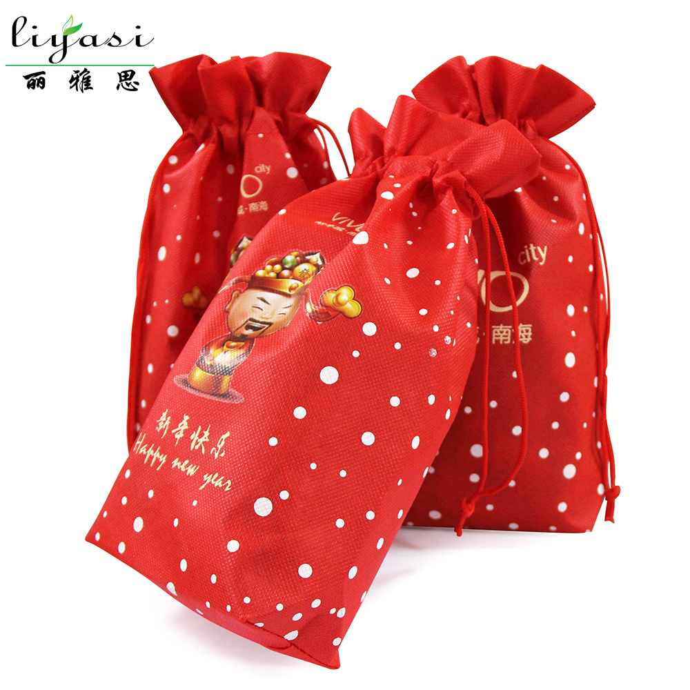custom candy small 80gsm non woven fabric drawstring bags