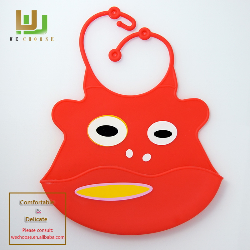Good quality hot sell useful silicone rubber baby bibs