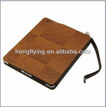Hot selling,Portable Leather Case with Holder and Credit Card Slot,Case for iPad 2/3