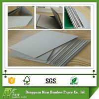 Anti-curl Grade AA paper thickness 2mm hard laminated grey card board